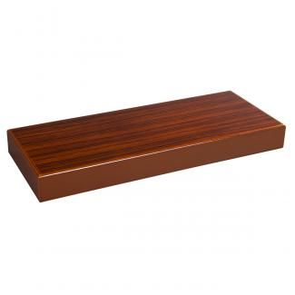 Peana Rectangular Zebrano Nogal, serie 10410 (Frontal)