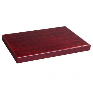 Base Rectangular Zebrano Caoba, serie 20310 (Frontal)