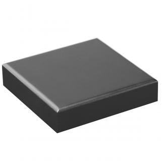 Base Rectangular Negro Mate, serie 2A110 (Frontal)