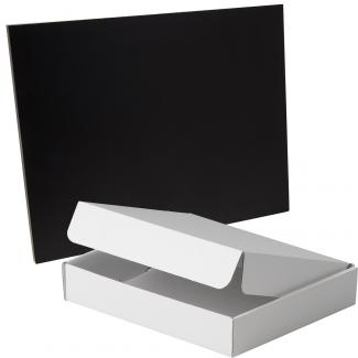 Placa de madera Negro Apoyo metalico varilla, serie 50120A (Frontal)