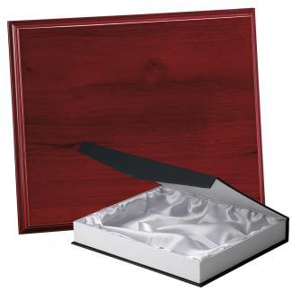 Placa de madera Etimoe Caoba Apoyo madera recto, serie 50210B (Frontal)