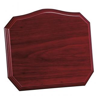 Placa de madera con forma Etimoe Caoba Apoyo madera recto, serie 50250 (Frontal)