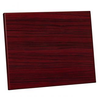 Placa de madera Zebrano Caoba Apoyo madera recto, serie 50350 (Frontal)