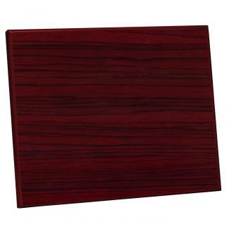 Placa de madera Zebrano Caoba Apoyo madera corbata, serie 50370 (Frontal)