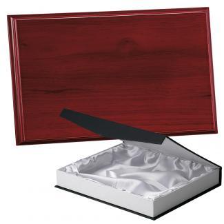 Placa de madera Etimoe Caoba Apoyo madera recto, serie 50390B (Frontal)