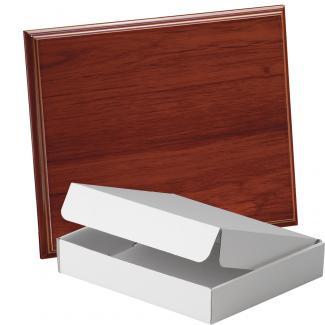 Placa de madera Etimoe Nogal Apoyo metalico U, serie 50450A (Frontal)