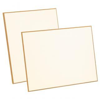 Placa de madera sublimación Blanco Apoyo metalico varilla, serie 50990 (Frontal)