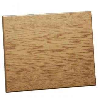 Placa de madera Sublimación Roble natural Apoyo metálico varilla, serie 5A840 (Frontal)