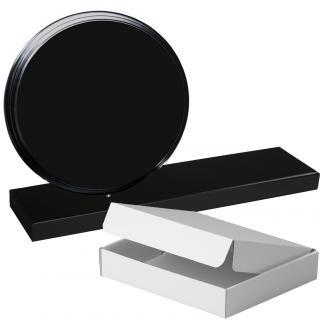 Cuña madera redonda negro con base, serie 70120A-20140 (Frontal)