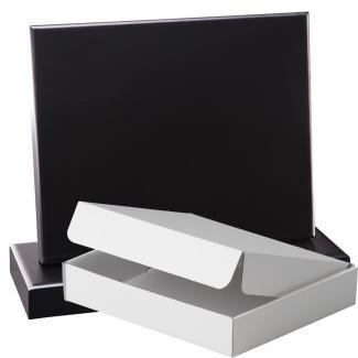 Cuña madera rectangular negro con base, serie 70150A-20140 (Frontal)