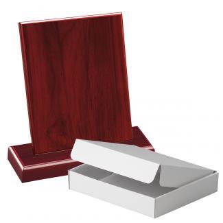 Cuña madera rectangular Caoba con base, serie 70230A-10210 (Frontal)