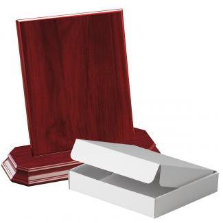 Cuña madera rectangular Caoba con base, serie 70230A-20280 (Frontal)