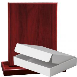 Cuña madera rectangular Caoba con base, serie 70230A-20300 (Frontal)