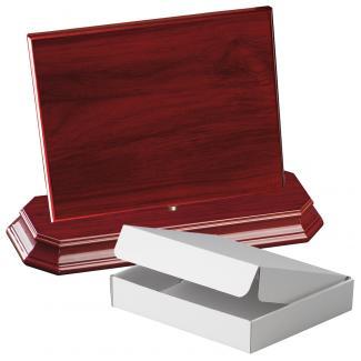 Cuña madera rectangular Caoba con base, serie 70240A-20280 (Frontal)