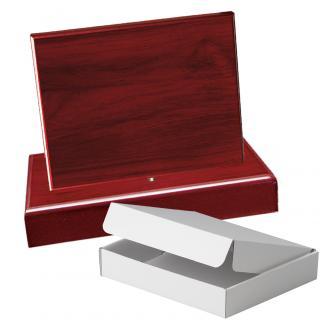 Cuña madera rectangular Caoba con base, serie 70240A-20300 (Frontal)