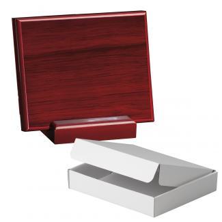 Cuña madera rectangular Caoba con base, serie 70260A-20260 (Frontal)