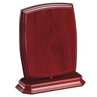 Cuña madera esquinas redondeadas etimoe caoba con base, serie 70270-20280 (Frontal)