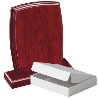 Cuña madera esquinas redondeadas etimoe caoba con base, serie 70270A-10210 (Frontal)