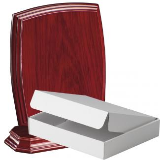 Cuña madera esquinas redondeadas etimoe caoba con base, serie 70270A-20280 (Frontal)