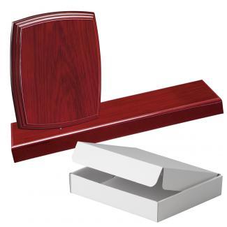 Cuña madera esquinas redondeadas etimoe caoba con base, serie 70270A-20300 (Frontal)
