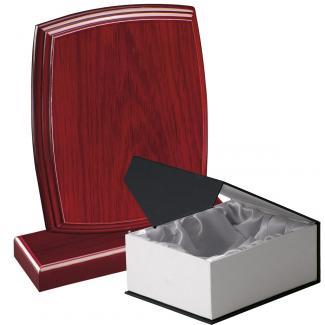 Cuña madera esquinas redondeadas etimoe caoba con base, serie 70270C-10210 (Frontal)