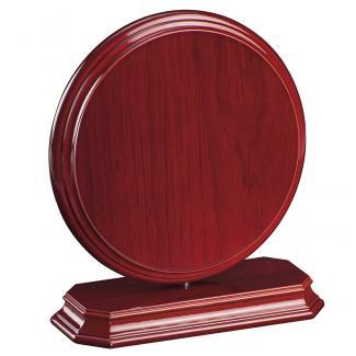 Cuña madera redonda etimoe caoba con base, serie 70270-20280 (Frontal)