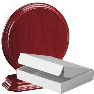 Cuña madera redonda etimoe caoba con base, serie 70280A-20280 (Frontal)