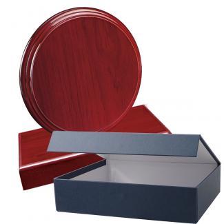 Cuña madera redonda etimoe caoba con base, serie 70280EV-20300 (Frontal)