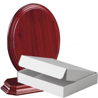 Cuña madera ovalada etimoe caoba con base, serie 70290A-20280 (Frontal)