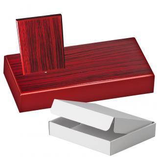 Cuña madera rectangular zebrano caoba con base, serie 70300A-10290 (Frontal)