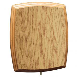 Cuña madera esquinas redondeadas roble natural (solo parte alta), serie 70810V (Frontal)