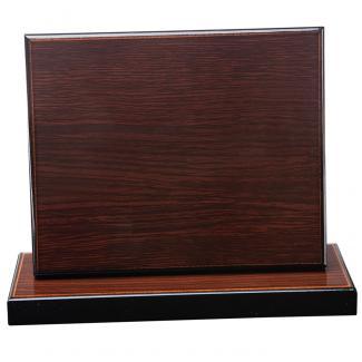 Cuña madera rectangular wengue con base, serie 70910-20910 (Frontal)