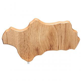 Mapa madera Andalucía roble natural (solo parte alta) (Frontal)