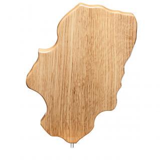 Mapa madera Aragón roble natural (solo parte alta) (Frontal)