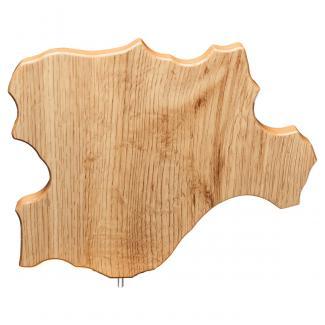 Mapa madera Castilla León roble natural (solo parte alta) (Frontal)