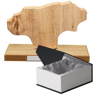 Mapa madera Cantabria roble natural con base (Frontal)
