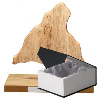 Mapa madera Comunidad Madrid roble natural con base (Frontal)
