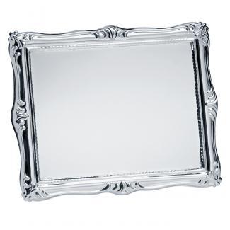 Placa aluminio acabado plata brillo, serie P090 (Frontal)