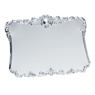Placa latón baño plata brillo, serie P100 (Frontal)