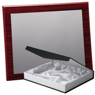 Kit placa de madera color zebrano caoba, aluminio y estuche lujo, serie P170B-50370 (Frontal)