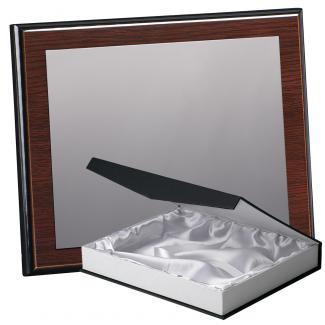 Kit placa de madera color wengue, aluminio y estuche lujo, serie P170B-50900 (Frontal)