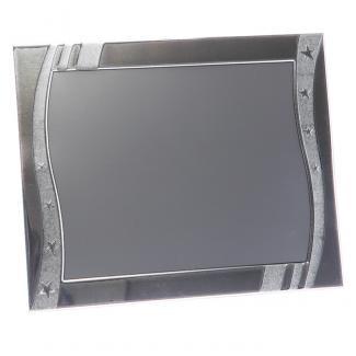 Placa aluminio rectangular plata mate, serie P230 (Frontal)