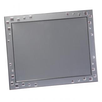 Placa aluminio rectangular plata mate, serie P240 (Frontal)