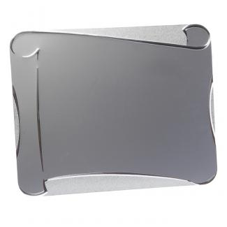 Placa aluminio pergamino esquinas redondeadas plata mate, serie P250 (Frontal)