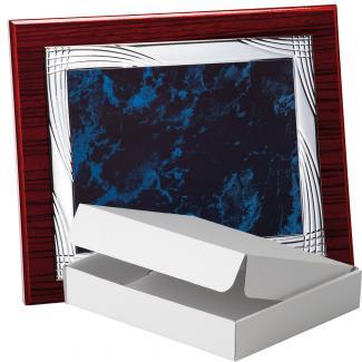 Kit placa de madera zebrano caoba, aluminio y estuche sencillo, serie P270A-50350 (Frontal)