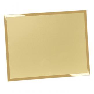 Placa aluminio rectangular oro mate, serie P320 (Frontal)
