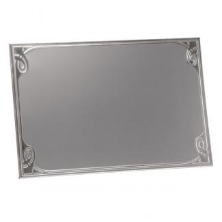 Placa aluminio rectangular plata mate, serie P340 (Frontal)