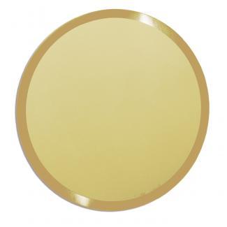 Placa aluminio redonda oro mate, serie P360 (Frontal)