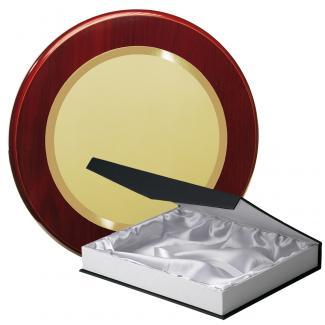 Kit placa de madera color etimoe caoba, aluminio y estuche lujo, serie P360B-50220 (Frontal)