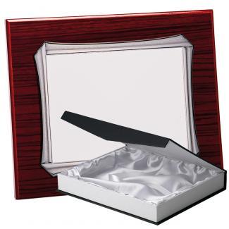 Kit placa de madera zebrano caoba, aluminio y estuche lujo, serie P370B-50350 (Frontal)